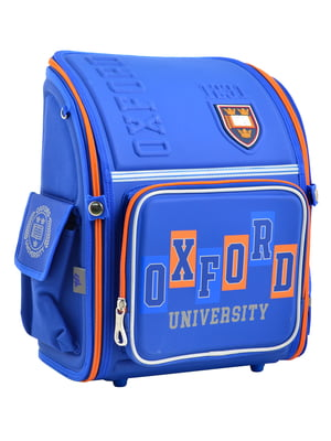 Рюкзак блакитний з принтом | 4235755