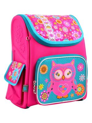 Рюкзак рожевий з принтом | 4235772