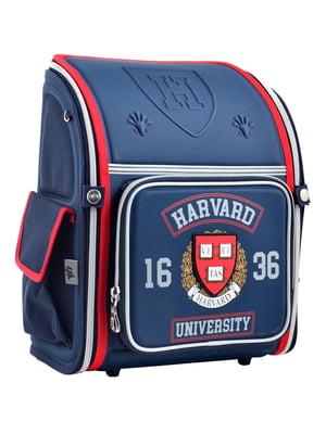 Рюкзак синій з принтом | 4235773