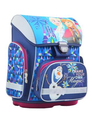 Рюкзак синій в принт | 4235774