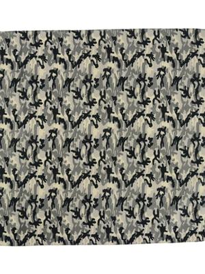 Платок-бандана серый в камуфляжный принт | 4237188