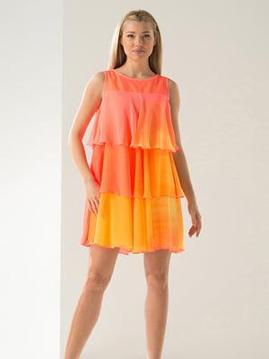 Платье желто-персиковое   4068403