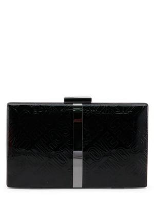 Клатч черный с надписями | 4230492