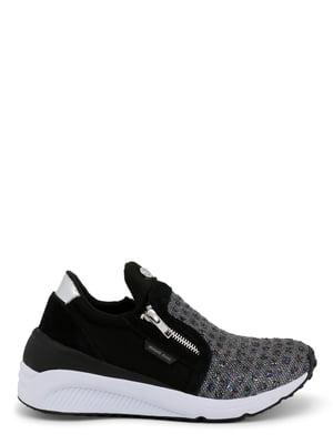 Кроссовки черно-серебристые | 4228869