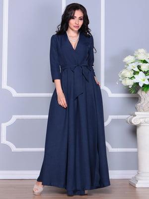 Платье темно-синее | 4238453