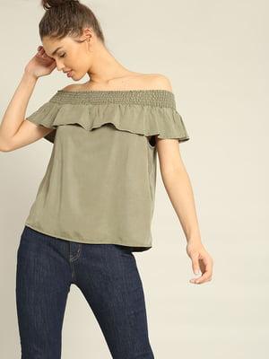 Блуза кольору хакі | 4235904