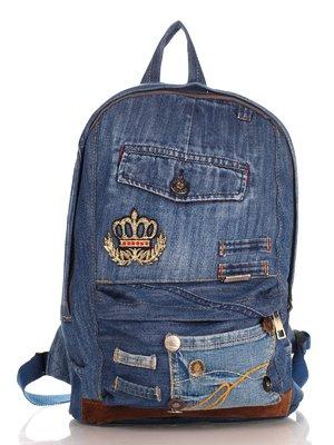 Рюкзак цвета джинса | 4241836