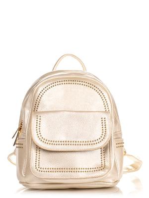 Рюкзак золотисто-бежевий | 4238628
