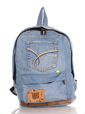 Рюкзак цвета светлого джинса | 4241793