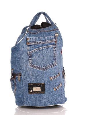 Рюкзак кольору джинсу | 4241882