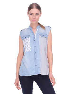 Блуза голубая | 4235090