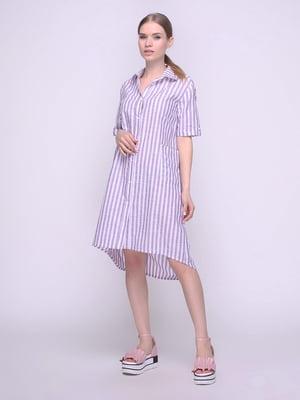 Сукня-сорочка в фіолетова в смужку | 4247107