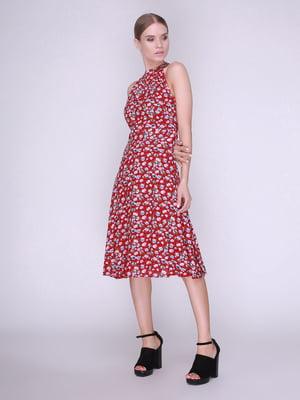 Платье красное в цветы   4247108