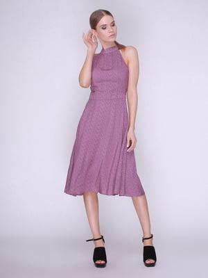 Платье фиолетовое в цветы | 4247110