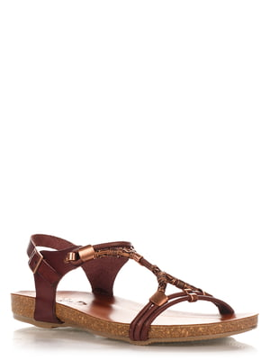 Сандалии темно-коричневые   4242536