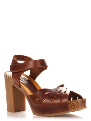 Босоніжки коричневі | 4242578