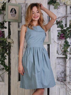 Платье бирюзовое в мелкий горошек | 4248681
