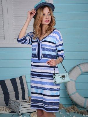 Платье синее в полоску | 4248691