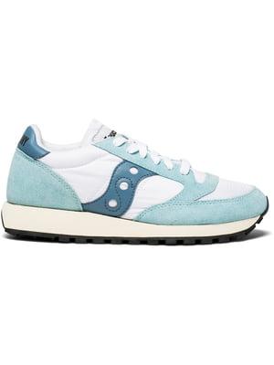 Кросівки біло-блакитні Jazz Original Vintage | 4249442