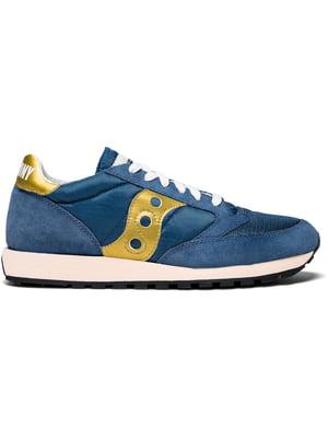 Кроссовки сине-золотистые Jazz Original Vintage | 4249468