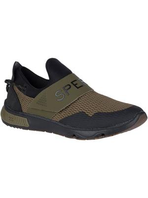 Кросівки оливково-чорні Sperry 7 Seas Slip On | 4248645