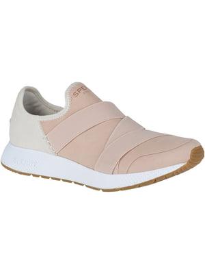 Кроссовки бело-розовые Seas Trysail | 4248649