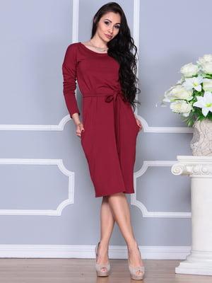 Платье винного цвета | 4249507