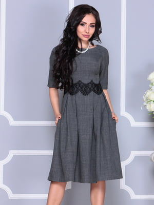 Платье графитового цвета | 4261216