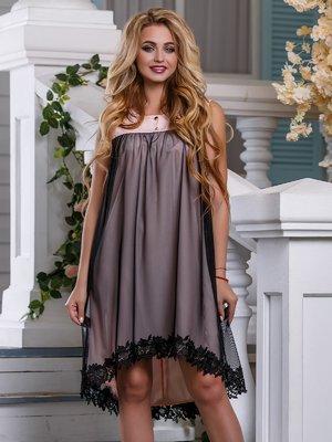 Платье бежево-черное | 4262979