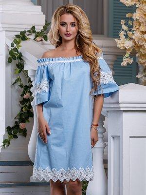 Платье голубое | 4262982