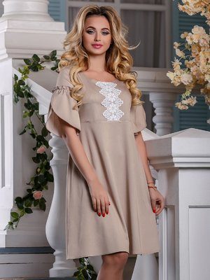 Платье бежевое | 4263017