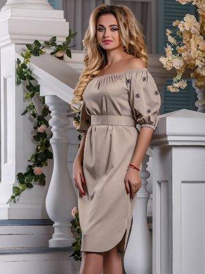 Платье бежевое | 4263018