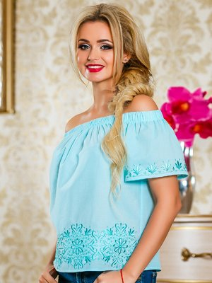 Блуза голубая | 4263063