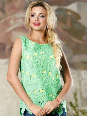 Блуза зелено-желтая | 4263096