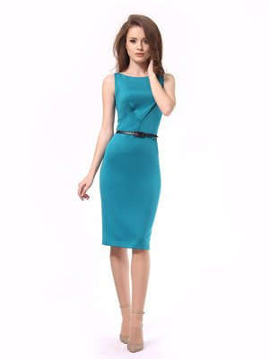 Платье бирюзовое | 4249874