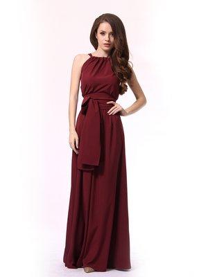 Платье-сарафан бордовое | 4249908