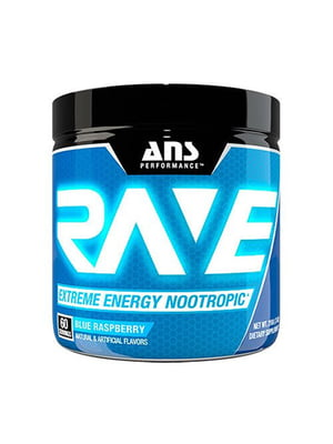 Rave Extreme Energy Nootropic голубая малина (210 г) | 4263895