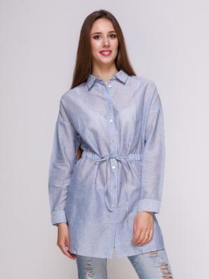 Блуза голубая в полоску | 4262464