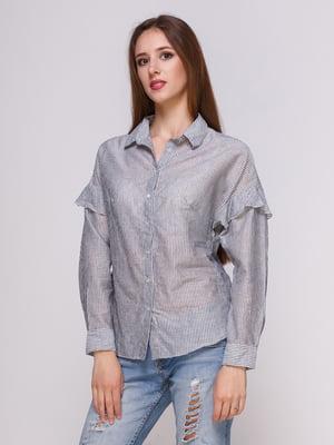 Блуза серая в полоску | 4262459