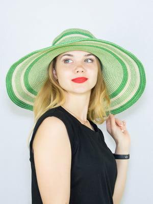 Шляпа зеленая в полоску | 4265545