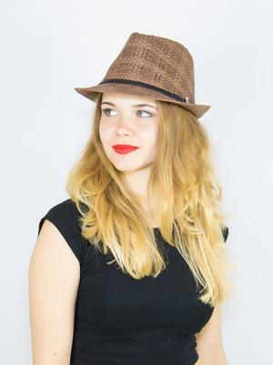 Шляпа коричневая   4265585