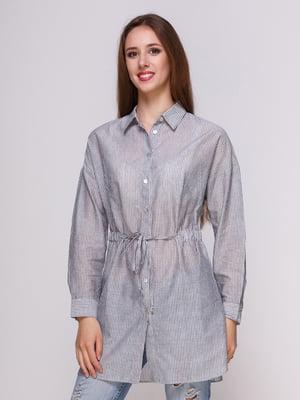 Блуза серая в полоску | 4262462