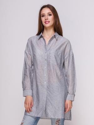 Блуза серая в полоску | 4262454