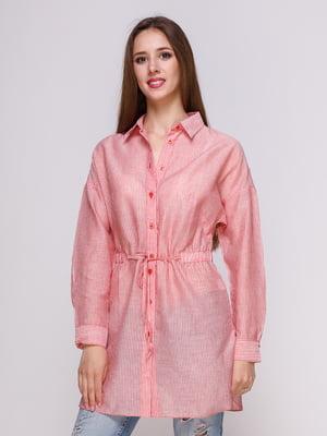Блуза красная в полоску | 4262463