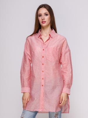 Блуза красная в полоску | 4262455