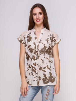Блуза цвета хаки | 4262385