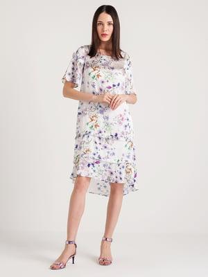 Платье кремового цвета в принт | 4265361