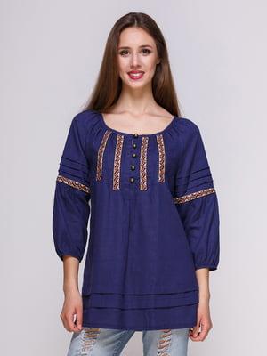 Блуза темно-синяя | 4262384