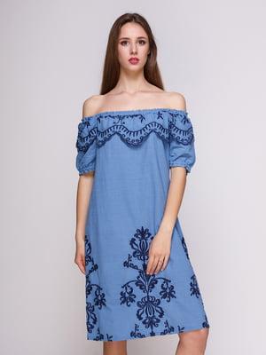 Платье голубое   4262401
