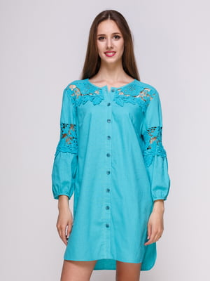 Платье бирюзовое | 4262476